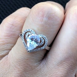 Jewelry - Heart-shape Sterling Silver Plated Ring
